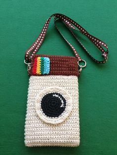 Handphone Case Crochet with belt neck