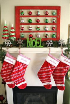 Variety of Christmas mantle ideas