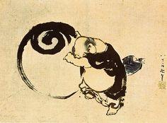 God of mirth    Hokusai