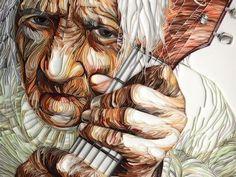 Yulia Brodskaya's mesmerizing quilled paper portraits