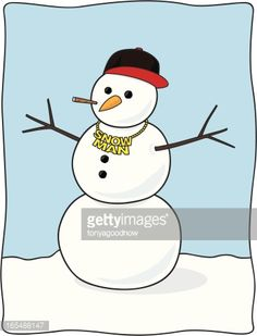 baseball cap + necklace for snowman