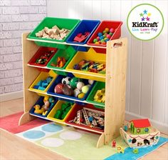 KidKraft Primary Wooden Storage Bin Unit + 12 Colourful Plastic Boxes Enjoy this Cheap Opportunity. Thank you and Visit Adiktedonline