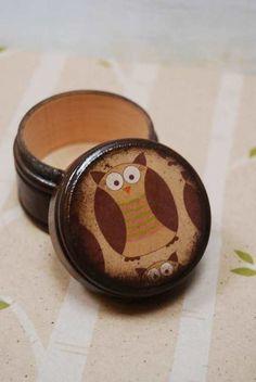 Little owl pill box.