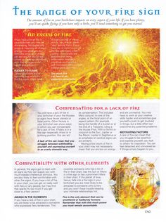 Astrology:  The Range of Your #Fire #Sign.