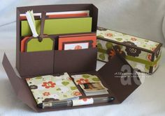 Stationary Box [with link to tutorial] | Sweet Impressions by Allison Ohran | Jackie Topa