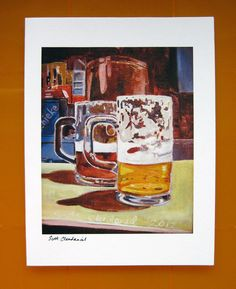 Beer Art Card with Envelope. Give someone a beer! $5.00