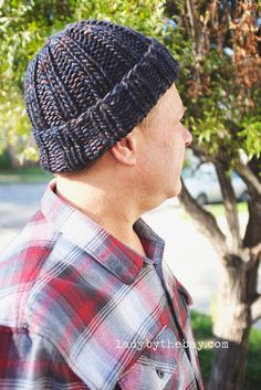 Simple Ribbed Beanie Knitting Pattern — Lady By The Bay : Lady by the Bay – Simple Ribbed Beanie Knitting Pattern patterns free hats mens Beanie Knitting Patterns Free, Beanie Pattern Free, Free Knitting, Hat Patterns, Simple Knitting, Cable Knitting, Knitting Ideas, Knitting Designs, Free Pattern