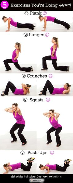 Jillian Michael's 20 minute workout from SHAPE magazine. 5 Exercises You're Doing Wrong 15 Minute Abs Workout The Workout legs Fitness Workouts, 7 Workout, Fitness Motivation, Sport Fitness, Body Fitness, Fitness Diet, Fun Workouts, Health Fitness, Daily Motivation