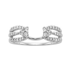 fred meyer jewelers - This beautiful ring wrap features carat total weight round brilliant Diamonds set in 14 karat white gold. This ring is a perfect enhancer for many of our solitaire engagement rings. Band width is *Solitaire not included. Wedding Rings Solitaire, Diamond Solitaire Rings, Diamond Engagement Rings, Solitaire Enhancer, Wedding Bands, Ring Guard, Princess Cut Rings, Round Diamond Ring, Round Diamonds