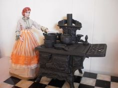 Crescent salesman sample stove by Pumpkin Hill Studios, via Flickr