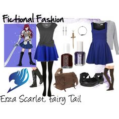 """Erza Scarlet, Fairy Tail"" by fictional-fashion on Polyvore"