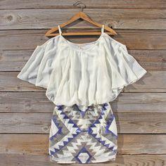Tight skirt loose top
