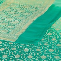 Shivangi Kasliwal Handwoven Banarasi Georgette Silk Sari 1011596 - / Shivangi Kasliwal - Parisera Banaras Sarees, Silk Sarees, Sky Blue Saree, Ladies Dresses, Saree Dress, Saree Collection, Saris, Saree Wedding, Bridal Looks