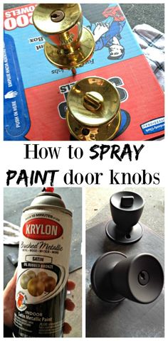 Tips and tricks on how to spray paint brass door knobs!