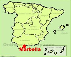 Marbella location on the Spain map