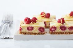 Great Recipes, Dinner Ideas and Quick & Easy Meals from Kraft Foods - Kraft Recipes Kraft Foods, Kraft Recipes, Lemon Raspberry Cheesecake, Easter Cheesecake, Cheesecake Recipes, Chocolate Cheesecake, Cheesecake Squares, Köstliche Desserts, Delicious Desserts