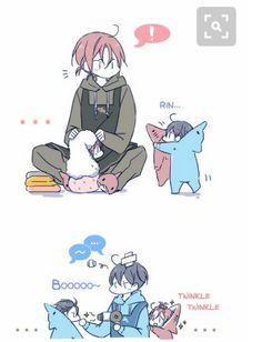 Rin & Haru as parents. #kawaii