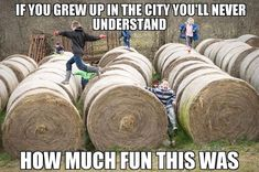 👍🏻I remember doing this, and we always had the best time! When my kids try to do this, I'm over here freaking out because I'm worried they are going to fall off and get hurt. 🙋🏻♀️🙋🏻♀️ Worry Wart over here! Real Country Girls, Country Girl Life, Country Girl Quotes, Country Girl Pictures, Country Living, Farm Jokes, Farm Humor, Funny Jokes, Hilarious