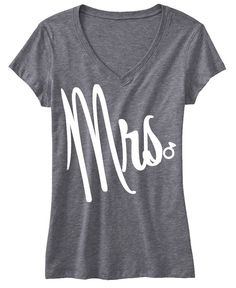 MRS #Bride #Shirt GLITTER Bride Shirt, Gray V-neck -- By #NobullWomanApparel, for only $22.99! Click here to buy http://nobullwoman-apparel.com/collections/wedding-bridal-shirts/products/mrs-bride-shirt-gray-v-neck