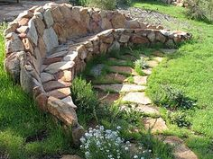 stone bench from bay area tendrils site