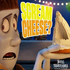 Eh, polite pass... Scream cheese intolerant LOL #HotelTransylvania