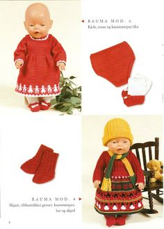 Albumarkiv Baby Born Clothes, Bitty Baby Clothes, Knitting Dolls Clothes, Doll Clothes, Reborn Dolls, Baby Dolls, Doll Patterns, Knitting Patterns, Kids And Parenting