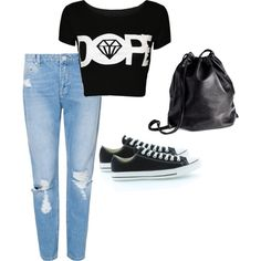A fashion look from February 2015 featuring Zoe Karssen jeans, Converse sneakers and H&M backpacks. Browse and shop related looks.