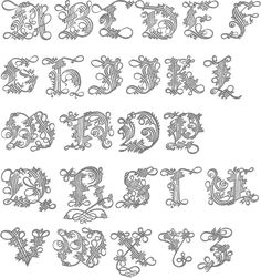 Links to some fonts compiled by Luc Devroye. Calligraphy Envelope, Calligraphy Alphabet, Calligraphy Fonts, Hand Lettering Fonts, Typography Fonts, Initial Fonts, Vintage Typography, Penmanship, Baroque