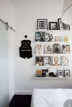 Cool for a teenager bookshelf or favorite posters galleria (Style Scrapbook: THE SPACE)