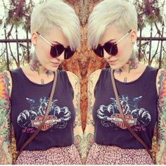 """From @wanderlustsalon on Miss @brookeaubrey_ #PixieLand #BlondePixie"" Love this cut!"