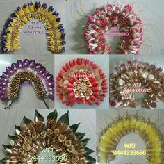Flower Garland Wedding, Bridal Hair Flowers, Flower Garlands, Flower Hair Accessories, Wedding Hair Accessories, Hair Designs, Flower Designs, Flower Rangoli, Flower Ornaments