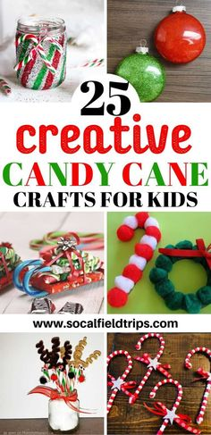 Candy canes not only taste great, but they also make for fun crafts, and are an excellent excuse to get the kids together for some holiday cheer. Just wait until you see the looks on their faces when they make one of these 25 Creative Candy Crafts For Kid Christmas Crafts For Kids To Make, Christmas Activities, Kids Christmas, Holiday Crafts, Christmas Cooking, Winter Activities, Kid Activities, Holiday Fun, Holiday Ideas