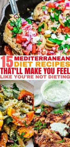 These Mediterranean Diet recipes are so easy to make. Add these recipes to your Mediterranean Diet plan! These Mediterranean Diet recipes are so easy to make. Add these recipes to your Mediterranean Diet plan! Med Diet, Low Carb Diet, Ketogenic Diet Meal Plan, Diet Meal Plans, Diet Menu, Paleo Diet, Food Menu, Easy Mediterranean Diet Recipes, Clean Eating
