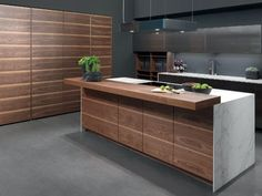 Here at Contemporary Home Design we specialise in handleless kitchen design in East London Kitchen Room Design, Modern Kitchen Design, Home Decor Kitchen, Interior Design Kitchen, New Kitchen, Kitchen Ideas, Walnut Kitchen Cabinets, Kitchen Countertops, Home Decor Ideas