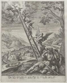 Jakobs ladder, Raphaël Sadeler (I), 1580