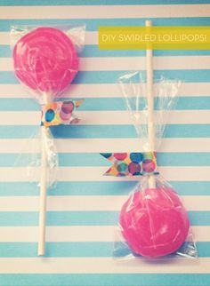 How To: Make Your Own Swirled Lollipops!
