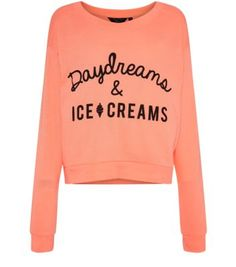 Teens Coral Daydreams & Ice Creams Sweater