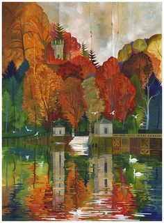 The World of Artist, Kate Lycett Anime Comics, Copper Beach, Artist Sketchbook, Colorful Artwork, Travel Illustration, Fantasy, Contemporary Artists, Contemporary Landscape, Gouache