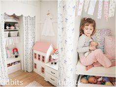 tidbits: Little Girl Shared Bedroom - Small Space Makeover