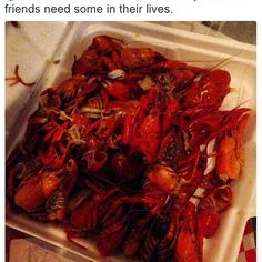 """tsa It would probably stick in your craw if I said no, so I'm happy to say that you can treat your northern friends to some yummy crawfish. Conversationally, did you know that you can keep your food items fresh with up to five-pounds of dry ice? Click on the link in our bio and search """"dry ice."""" - This is a screenshot of a tweet sent to the @AskTSA account on Twitter. Have you ever wondered whether or not you can pack a certain item? Fret no more! Now you can simply snap a picture and tweet…"""