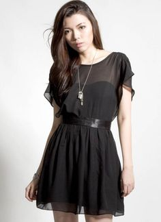 Black Little Black Dress - Short Sleeve Black Dress with | UsTrendy