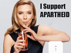 She supports apartheid why? The SodaStream factory is built in Mishor Adumim Industrial Zone, located in the settlement of Ma'aleh Adumim, one of the largest Israeli thefts of Palestinian land in the occupied West Bank. The chunk of land the settlement is built on separated Ramallah, Jerusalem, Bethlehem and Jericho in violation of human rights and international law.