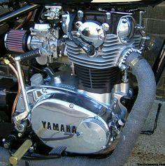 Yamaha 650, Bobber Bikes, Yamaha Motorcycles, Cafe Racer Motorcycle, Custom Motorcycles, Xs650 Bobber, Bobber Kit, Bike Engine, Cafe Bike