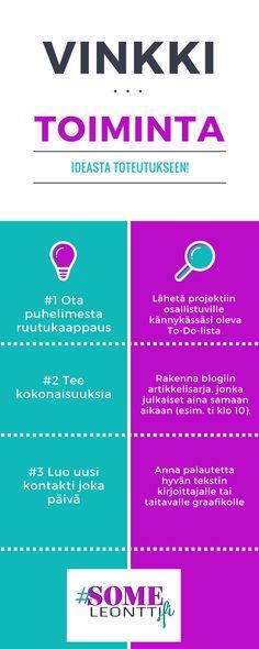 Kerää #Someleontti-blogista vinkkejä yrittäjälle!  #sosiaalinenmedia #vinkki #pienyrittäjä #yrittäjyys #helpotaarkeasi