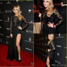 Black Lace Red Carpet Dresses