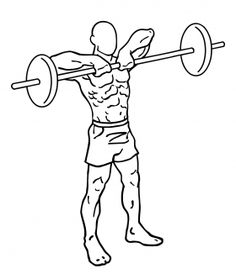 Upright Barbell Rows 2