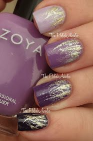 The PolishAholic: NOTD: Purple Ombre Waterfalls