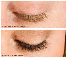 Lash tinting! Create a semi permanent dark lash!