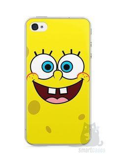 Capa Iphone 4/S Bob Esponja #2 - SmartCases - Acessórios para celulares e tablets :)