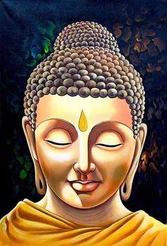 ॐ Buddha ❤ Buddha Zen, Gautama Buddha, Buddha Buddhism, Buddhist Art, Buddha Face, Buddha Artwork, Buddha Painting, Buddha Tattoos, Buddha Drawing